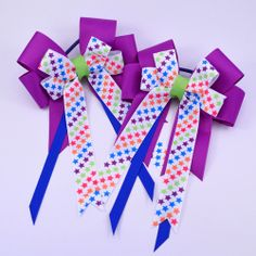 Stars Purple Equestrian - Pluff Bows Boutique Bows, Bow Ties, Equestrian, Hair Bows, Stars, Purple, Accessories, Sterne, Hairbows