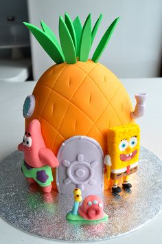 Spongebob Squarepants themed birthday cake