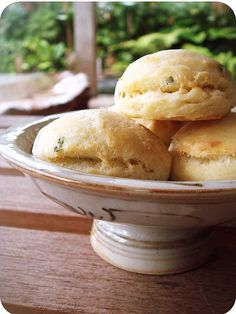 Cream Cheese and Chives Biscuits