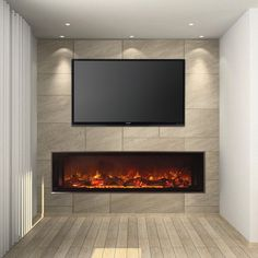 The Landscape FullView 60 built-in electric fireplace is the first of its kind creating a perfect substitute for a linear gas fireplace. This unique frameless design allows for edge to edge flame presentation as well as unlimited surround capabilities. Available with 2 customizable flame bed options for different fit and finishes. An optional 2 stage heater is also included for supplemental heat up to 450 square feet.