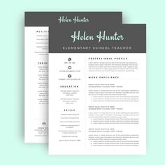Cv Template Professional Resume Template  Cover Letter For Ms