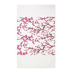 Cherry Blossom Flowers 3x5' Area Rug on CafePress.com