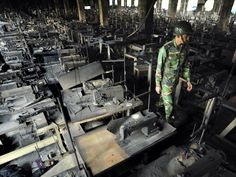 Garment factories, due to their unsafe working conditions, are prone to fires.