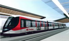 Chosen design theme of the Alstom Spirit. First iteration of the front end design of the Confederation Line's new vehicle in Ottawa