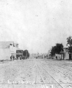 Florida Memory Street Scene Leesburg La Trains