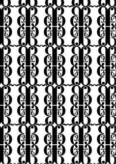 """New Caledonia Lt std ,William A. Dwiggins, 1938. Pattern 1 (bn):""""aspetto ornamentale moderno"""":£,ß,~,· di New Caledonia Semibold. Ho deciso di utilizzare £,ß perchè mettono in evidenza il carattere ornamentale, inoltre ho inserito un punto e una linea ondulata per renderlo più moderno. Ho creato un pattern con glifi  particolari e con lettere non molto comuni."""