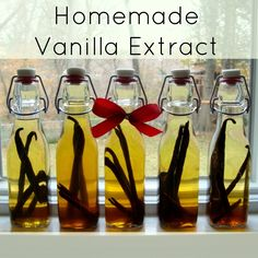 Homemade Vanilla Extract from Real Food Real Deals