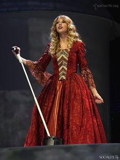 Taylor Swift on her Fearless tour at Madison Square Garden.