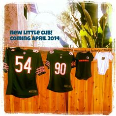 Our football inspired second pregnancy announcement :)