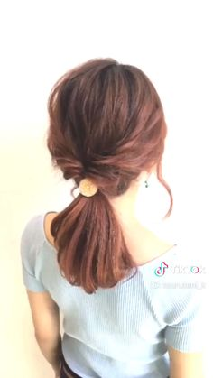 The Top 20 Trending Pictures of Beauty : ✂︎hair arrange✂︎ by go. Loose Hairstyles, Pretty Hairstyles, Braided Hairstyles, Hairstyles Videos, Hair Videos, Medium Hair Styles, Curly Hair Styles, Short Hair With Bangs, Short Hair Ponytail Hairstyles