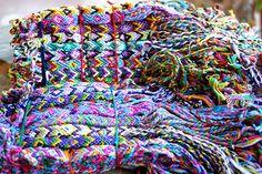 Wholesale lot of 50 friendship bracelets gifts schools teams cotton,wristband www.sundancewholesale.com