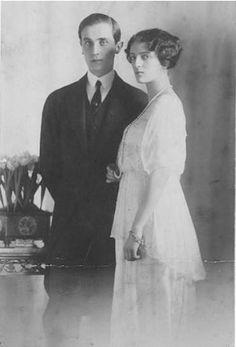 1913 engagement photo of Prince Felix Youssoupoff and Princess Irina Romanova