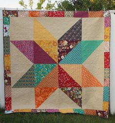Giant Vintage Star Quilt Tutorial | Giant vintage, Star quilts and ... : big star quilt block - Adamdwight.com