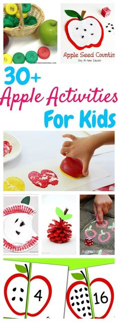 You have GOT to try these apple activities if you're planning an apple unit for your preschool this fall! It's the best resource for apple activities for kids! (autumn activities for kids) September Themes, September Activities, September Kids Crafts, January, Preschool Apple Theme, Preschool Apples, Apple Theme Classroom, Preschool Monthly Themes, Preschool Lessons