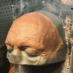 Old age forehead prosthetic sculpt on its corrected positive. #oldage #prrosthetic #prrosthetics #chavant #sculpture #clay #makeupfx #mpfx #vvdfx #vincentvandykefx #vincentvandykeeffects