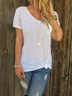 Michelle Pocket Tee @only1mallory