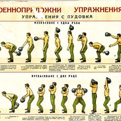 Cool, classic Bulgarian kettlebell lifting poster!