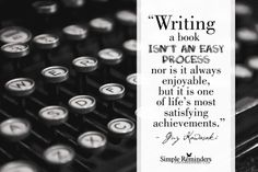 Writing a book isn't an easy process nor is it always enjoyable, but it is one of life's most satisfying achievements. Writing Words, Writing Quotes, Writing Help, Writing A Book, Writing Tips, Fiction Writing, Red Words, A Writer's Life, Simple Reminders