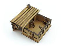 Laserskuren terräng till figurspel tillverkad i 3mm MDF. | Laser cut terrain for miniature games cut from 3mm MDF. Laser Cutting