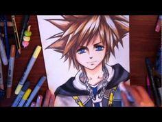 Drawing Sora - Kingdom Hearts キングダム ハーツ