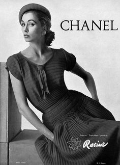 Chanel 1954. CoCo Chanel reopened her atelier in 1954 and again became an influential force in haute couture.