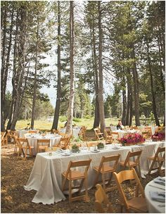 A rustic outdoor reception at The HideOut, Kirkwood CA. Kate Whelan Events. Orange Turtle Photography.