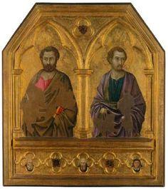 Ugolino di Nerio - Santi Simone e Taddeo - 1325-1328 - Tempera all'uovo su tavola - National Gallery, Londra