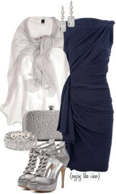 """Non-traditional Colors (Christmas Party) contest entry #3"" by enjoytheview on Polyvore"