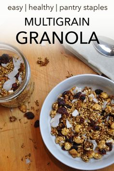 This Multigrain Granola is the perfect breakfast! Just add some dairy-free yogurt or dairy-free milk.It will give you sustained energy throughout the day. This also makes a great afternoon snack! Best Vegan Breakfast, Vegan Breakfast Recipes, Vegan Snacks, Perfect Breakfast, Breakfast Ideas, Dairy Free Recipes, Vegan Recipes, Snack Recipes, Bar Recipes