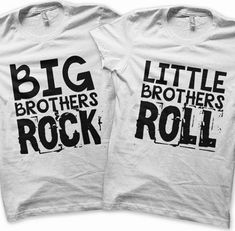 Iron on Brothers Shirt Rock and Roll Iron on Transfer Big Brothers Shirt Little Brothers Tee Rock and Roll Kids Clothing Tshirt - Awsome Shirts - Ideas of Awsome Shirts - Big Brother Gifts, Big Brother Little Brother, Little Brothers, Gifts For Brothers, Big Brother Tshirt, Sibling Shirts, Kids Shirts, Family Shirts, Rock And Roll