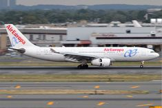 Air Europa Fleet Airbus A330-200 Details and Pictures. Air Europa Fleet Airbus A330-200 configuration, seat map, seating chart, cabin interior, seat pitch, extra legroom, business class, economy class, angle-flat seats..