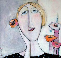 Monica Blom på Konstkvarteret