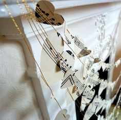 25 Handmade Wedding Treasures that Hit All the Right Notes   OneWed. This one could be a great pew decorator.