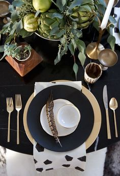 Black and Metallic Centerpiece