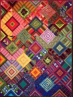 Quilt Inspiration: Q.I. Classics: Quilts of Guatemala by Priscilla Bianchi.  'Natura Florida II'