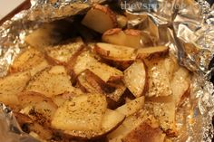 Roasted herbed potatoes-- Another amazing recipe!! I did these in the oven for 38 minutes and they turned out perfect! Will definitely be making again!