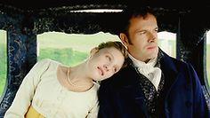 Romola Garai (Emma Woodhouse) & Jonny Lee Miller (Mr. Knightley) - Emma directed by Jim O'Hanlon (TV Mini-Series, 2009) #janeausten