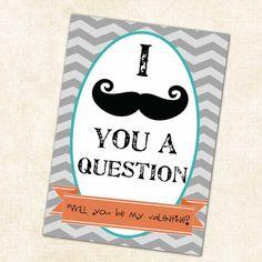valentine's day card mustache,