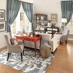Elliott Writing Desk - Heirloom - Inspire Q - image 4 of 6 Home Office Space, Home Office Design, Home Office Decor, Office Desk, Desk In Living Room, Home And Living, Living Room Decor, Desk Behind Couch, Apartment Living
