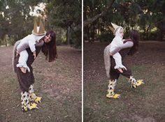 DIY where the wild things are costume. so cute.
