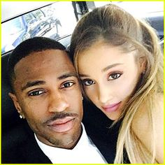 Ariana Grande & Big Sean Look Perfect Together at Grammys 2015 Ariana Grande bares her back at the 2015 Grammy Awards held at the Staples Center on Sunday (February in Los Angeles. The singer was seen posing… Ariana Grande Big Sean, Ariana Grande Boyfriend, Ariana Grande Pictures, Adriana Grande, Cat Valentine, Star Wars, Nickelodeon, Perfect Together, Victoria