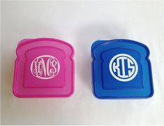 Personalized Kids Sandwich Storage Container - Monogram Lunch Box - Kids Back to School