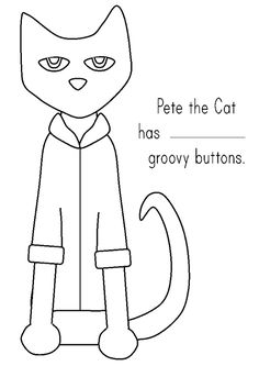 Pete the Cat and His Four Groovy Buttons Coloring page KT