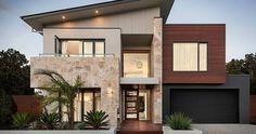 """Résultat de recherche d'images pour """"double story facade big windows timber"""""""