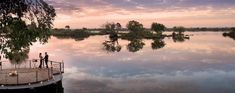 Beautifully designed Thorntree River Lodge graces the banks of Zambia's glorious Zambezi River in Mosi-Oa-Tunya National Park. River Lodge, Outdoor Bathrooms, Victoria Falls, Plunge Pool, Romantic Getaway, Logs, Safari, Sailing, National Parks