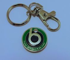 A token for the gym locker or supermarket trolley.  The site logo is on one face, the otherside? A smiley face of course, to remind you, the drive home is yet to come.  Comes as single token with sprung key/catch release and keyring chain.   Can be used for a wide range of things beyond a trolley token! Gym Lockers, Yet To Come, Smiley, Range, Key, Personalized Items, Chain, Logo, Cookers