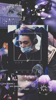 @kukuruyuk Purple Aesthetic, Retro Aesthetic, Kpop Aesthetic, Ikon Member, Aesthetic Lockscreens, Ikon Kpop, Ikon Wallpaper, Kim Ji Won, Sketches