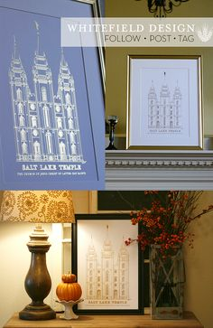 Gold Foil Temple Prints   Whitefield Designs