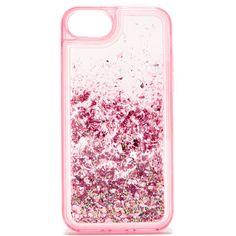ban.do Glitter Bomb iPhone 7 Case ($28) ❤ liked on Polyvore featuring accessories, tech accessories, pink stardust, transparent iphone case, pink glitter iphone case, pink iphone case, iphone cases and iphone cover case
