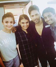 Alia Bhatt and Varun Dhawan made their debut with Karan Johar's Student of The Year and and also showcased a cracking chemistry in Humpty Sharma Ki . Bollywood Couples, Bollywood Celebrities, Bollywood Fashion, Bollywood Actress, Alia Bhatt Cute, Alia And Varun, Karan Johar, Varun Dhawan, Dimples